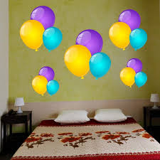 Shop Full Color Colorful Balloons Full Color Wall Decal Sticker Sticker Decal Size 48x65 Frst On Sale Overstock 15088317
