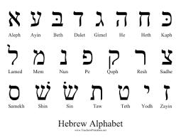 hebrew alphabet teachers printables