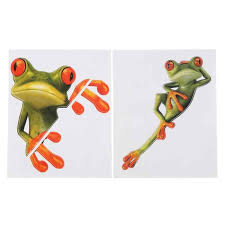 1pc Car Stickers 3d Funny Green Lying Frog Wall Truck Window Decal Sticker Cute Guitar Luggage Skateboard Bicycle Stickers Automotive Interior Stickers Aliexpress