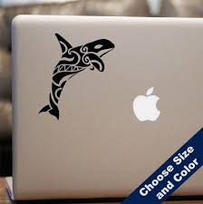 Amazon Com Native Orca Whale Decal For Laptop Car Choose Size And Color Whale Decal Orca Whales Orca