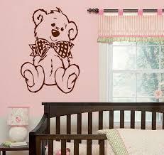 Teddy Bear Wall Decal Tatty Stickers Paddington Mimi Art Archie Picnic Nursery Koala Vamosrayos