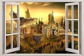 Hogwarts Harry Potter 3d Window View Decal Graphic Wall Sticker Art Mural H321 Ebay
