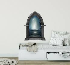 24 Castle Window Medieval Knight View Dragon 2 Wall Decal Kids Room Sticker For Sale Online Ebay
