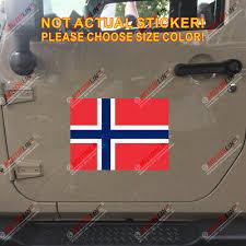 Flag Of Norway Norwegian Decal Sticker Car Vinyl Reflective Glossy Pick Size Ebay