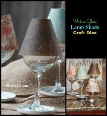 wine glass lamp shade diy project