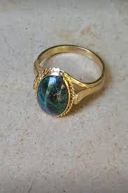 eilat stone ring 14k gold israeli