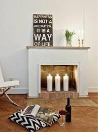 decorative fireplace romantic mood