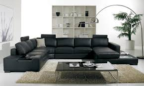 decorating a room with black leather