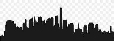 Cities Skylines New York City Silhouette Wall Decal Png 8000x2870px Cities Skylines Black And White Brand