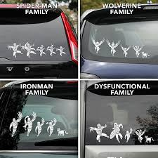 Superhero Family Car Window Decals
