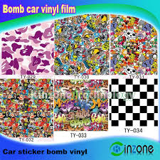 China Bomb Stickers Auto Doodle Film Graffiti Art Vinyl Decal Sticker Car Change Color Films Ty 029 Ty 034 China Bomb Stickers Auto Doodle Film Graffiti Art Vinyl Decal Sticker