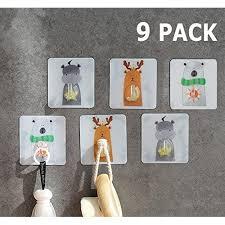 Dahey Decorative Wall Hooks Kids Self Adhesive Hanging 11ibs Max Animal Cartoon Wall Hanger Baby S Room