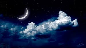 midnight crescent moon other nature