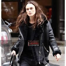 black fur genuine leather er jacket