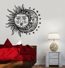 Vinyl Wall Decal Sun Moon Stars Night Bedroom Design Stickers 996ig Ebay