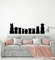 Vinyl Wall Decal Pets Dog Silhouette Animals Children Room Stickers Mu Wallstickers4you