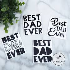 Best Dad Ever Father S Day Sticker Decal Vinyl Label Bumblebee Creative On Madeit