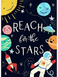 "Reach For The Stars Nursery Quote"" Art Board Print by namibear 