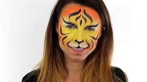 quick easy tiger face paint tutorial