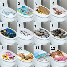 New 3d Toilet Seat Wall Sticker Bathroom Decal Vinyl Mural Home Decor