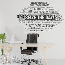 Inspirational Word Art Decals Large Wall Decals Graphics For Office Walls