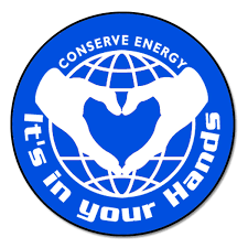 Ai Edoth103 1 Color Conserve Energy It S In Your Hands Energy Conservation Vinyl Decal 2 Inch Dia