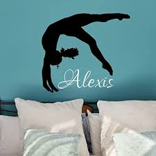 personalized gymnastics wall decal