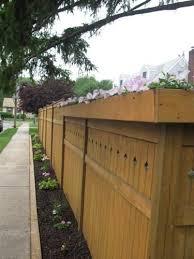 Planter Box Top Of Privacy Fence Roberta From Merrick New York Gardens Planter Boxes Garden Fencing Garden