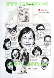 caricature gift for boss by bankers