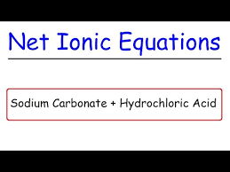 sodium carbonate hydrochloric acid