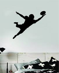 Football Player V6 Wall Decal Sticker Vinyl Art Bedroom Room Home Deco Boop Decals