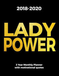 lady power year monthly planner motivational