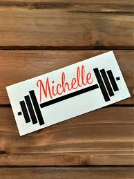 Barbell Decal Workout Decal Fitness Decal Crossfit Etsy