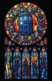 dr who stained glass cross stitch kit