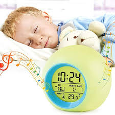 Amazon Com Kids Alarm Clock Led Digital Clock For Boys Girls 7 Color Changing Night Light Clock For Kids Bedroom Bedside Children S Clock With Indoor Temperature Touch Control And Snooze Gift For Kids Home