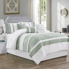 8 piece fiona green comforter set