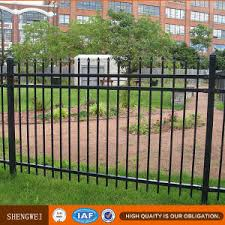 China Antique Wrought Iron Fence Panels Hot Sale China Galvanized Steel Security Fence Garden Fence Short