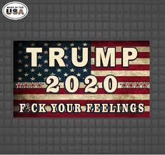 Trump 2020 American Flag Vinyl Decal Sticker Trump Decals Trump Stickers Republican Decals Country Boy Customs Store