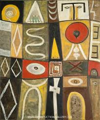 Pictogenic Fragments Painting By Adolph Gottlieb - Reproduction Gallery