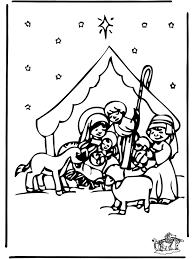 Kerststal 2 Bijbelkleurplaten Kerst