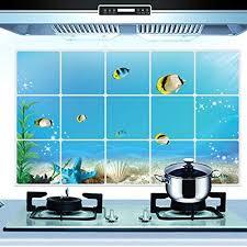 4 99 Kaimao Diy Underwater World Pattern Backsplash Oil Proof Wall Sticker Art Decal Murals Removable W With Images Sticker Wall Art Wall Stickers Murals Wall Stickers