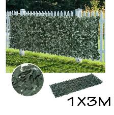 1 3m 3 4pcs Artificial Fake Maple Leaf Fence Green Garden Screen Hedge Plants For Outdoor Garden Decoration And Wind Protection Artificial Plants Aliexpress