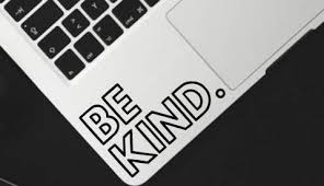 Be Kind Vinyl Decal Sticker For Car Decal Window Decal Hipster Decal Laptop Decal Be Kind Sticker Kindness Quote Wantitall