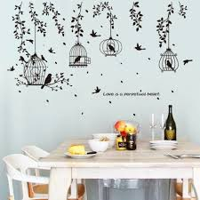 Tree Branches Birdcage Wall Sticker For Home Decoration Removable Decal Wall Decor Stickers Wall Sticker Wall Stickers