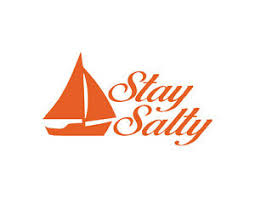 Stay Salty Window Decal Orange 4 5 X 8 Sailing Ocean Sail Boat Beach Fun Ebay