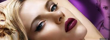 scarlett johanson with makeup photo