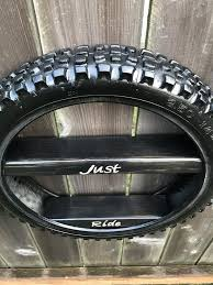 Dirt Bike Tire Shelf Boys Room Shelf Garage Shelf Tire Shelf Dirt Bike Shelving Unique Shelf Man Cave Dirt Bike Room Bike Room Dirt Bike Tires