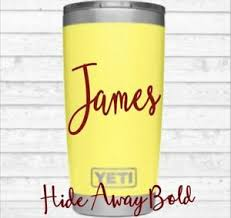 Personalize Name For Men Or Women Monogram Vinyl Decal For Your Tumbler Rambler Ebay