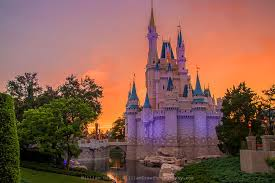 castle sunset disney castle wall murals