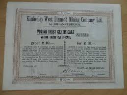 South Africa - Kimberley West Diamond Mining Compagny Ltd. - Catawiki